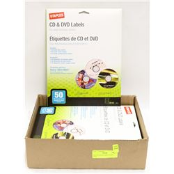 BOX OF CD/DVD LABELS 50 PER PACK