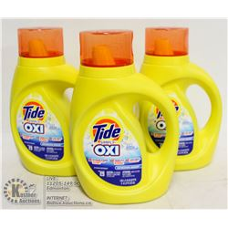 LOT OF 4 TIDE SIMPLY OXI LAUNDRY DETERGENT