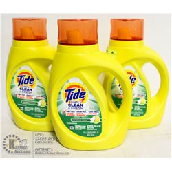 LOT OF 3 TIDE SIMPLY CLEAN & FRESH LAUNDRY