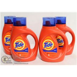 LOT OF 4 TIDE ORIGINAL LAUNDRY DETERGENT, 1.09L