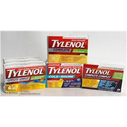 BAG OF ASSORTED TYLENOL COLD MEDICATION