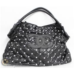 REPLICA CHANEL BLACK & JEWELLED PURSE WITH BLACK