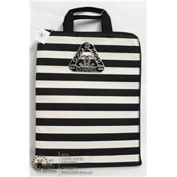 REPLICA CHANEL BLACK & WHITE STRIPED TOTE STYLE