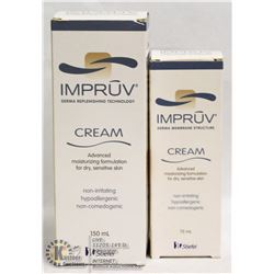LOT OF 2 IMPRUV DRY SKIN CREAM
