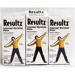 LOT OF 3 RESULTZ HEAD LICE TREATMENT