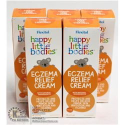 LOT OF 5 FLEXITOL HAPPY LITTLE BODIES ECZEMA CREAM