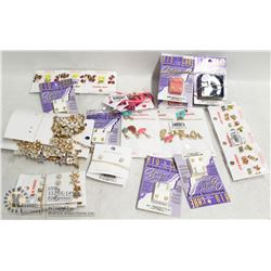 BOX OF ASSORTED NEW JEWELLERY INCL EARRINGS AND