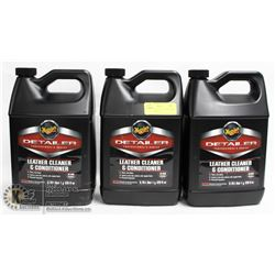 LOT OF 3 D180 LEATHER CLEANER & CONDITIONER, 4L