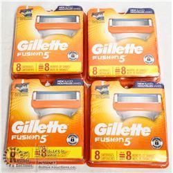 BAG OF GILLETTE FUSION 5 RAZOR CARTRIDGES