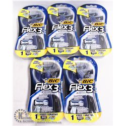BAG OF BIC FLEX3 DISPOSABLE RAZORS