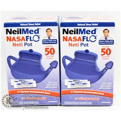 BAG CONTAINING 2 NEILMED NASAFLO NETI POTS
