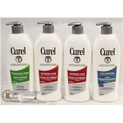LOT OF 4 MIXED CUREL LOTION