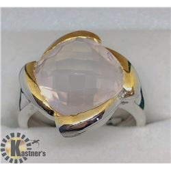 ROSE QUARTZ MEN'S RING