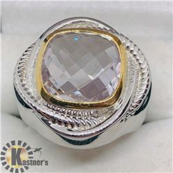 PINK AMETHYST MEN'S RING