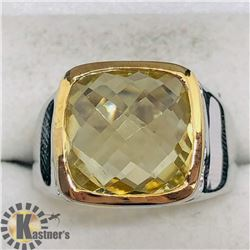 LEMON TOPAZ MEN'S RING