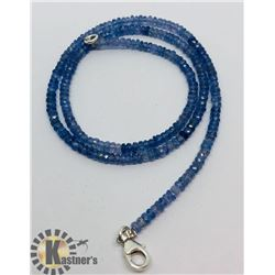 SILVER TANZANITE NECKLACE