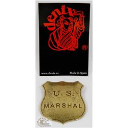 NEW METAL REPLICA US MARSHALL BADGE