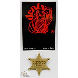 NEW METAL REPLICA SIX POINT BALL TIPPED SHERIFF