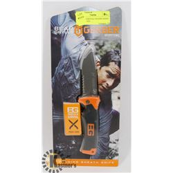 GERBER SURVIVAL FOLDING KNIFE WITH SHEATH