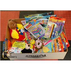 LARGE BOX OF NEW CHILDRENS TOYS