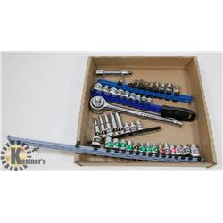 "3/8 & 1/4"" MARKED SOCKET SET OVER 40 PIECES"
