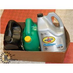 LOT OF 12 LITRES MOTOR OIL INCLUDING SYNTHETIC