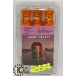 PK 0F 3 NEW ROADSIDE EMERGENCY ELECTROFLARES