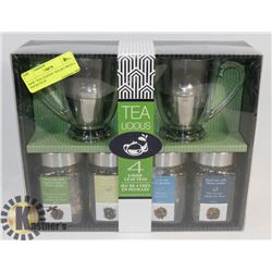 "NEW ""TEA LICIOUS"" TEA SET WITH 4 PACKETS OF"