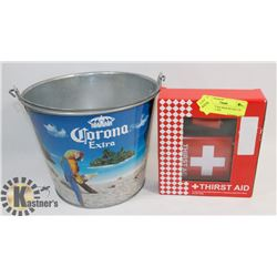 CORONA EXTRA BEER BUCKET W/ NEW THIRST AID