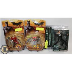 SET OF 3 NEW ACTION FIGURES - 2 BATMAN BEGINS