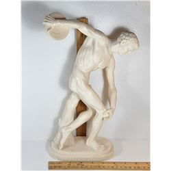 19)  MADE IN ITALY CARVED STATUE OF