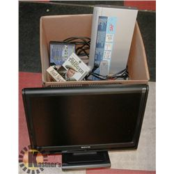 JVC DVD VIDEO PLAYER WITH REMOTE, 20  MONITOR,