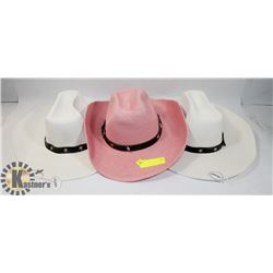 BUNDLE OF 3 COWBOY HATS
