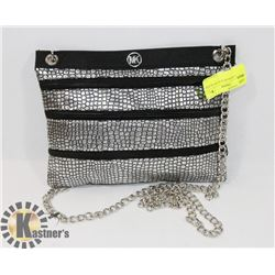 MICHAEL KORS BLACK AND SILVER BAG