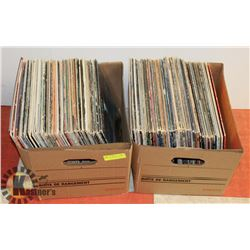 2 BOXES OF ASSORTED VINYL LP RECORDS