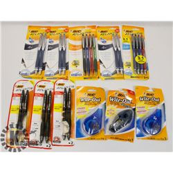 BAG OF ASSORTED OFFICE SUPPLIES INCLUDING