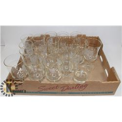 FLAT OF ASSORTED CRYSTAL GLASSES