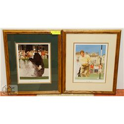 2 GOLF PRINTS OF IAN WOOSNAM AND JOSE MARIA