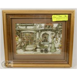 ANTON PIECK VINTAGE 3D ART  THE TOYSHOP  10 X 12