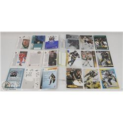 LOT OF TWO SHEETS OF JAROMIR JAGR CARDS