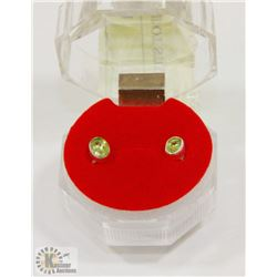 #190-NATUARAL PERIDOT STUD EARRINGS