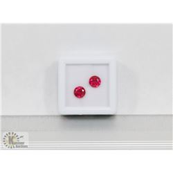 #22-MATCHING PAIR EARRING RED RUBY GEMSTONE 2.0CT