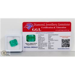 #9-GENUINE GREEN EMERALD GEMSTONE 13.15 CT