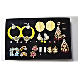7)  LOT OF 16 ASSORTED FASHION EARRINGS
