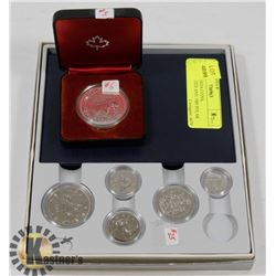 LOT OF CANADA COINS, UNCIRCULATED AND 1980 POLAR