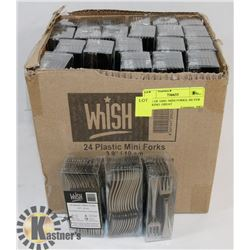 CASE OF 1000+ MINI FORKS, SILVER LOOKING. GREAT