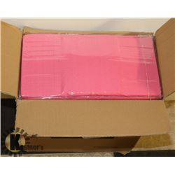 CASE OF 30 NEW HOT PINK DISPOSABLE TABLECLOTHS