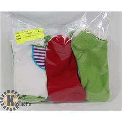 9 PK LADIES ANKLE SOCKS