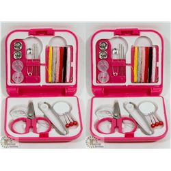 LOT OF 2 NEW! MINI PORTABLE SEWING KIT