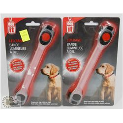 LOT OF TWO NEW! LED BANDS FOR DOG COLLARS AND